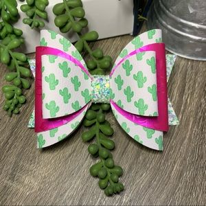 Prickly Cactus April Stacked Bow